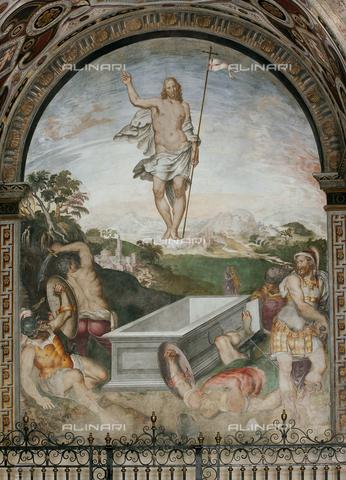 Giovanni Pietro e Aurelio Luini, Resurrezione di Cristo, 1555