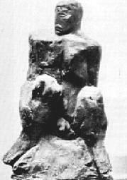 Lucio Fontana, L'uomo nero, 1930