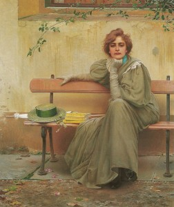 V. Corcos, Sogni, 1897, Roma, Galleria d'arte moderna