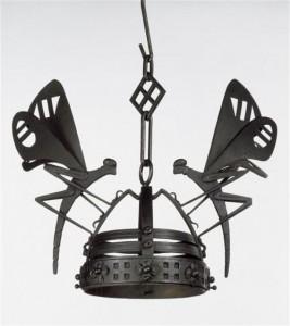 Porta Lampade in ferro battuto di Alessandro Mazzuccotelli