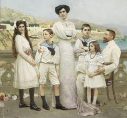 V. Corcos, La famiglia Moschini, 1910