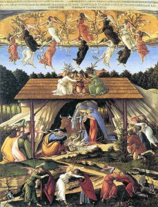 S. Botticelli, Natività mistica, 1501, Londra, National Gallery