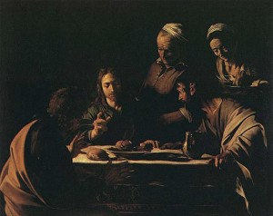 Caravaggio, La cena in Emmaus, Pinacoteca di Brera, Milano, 1605-06