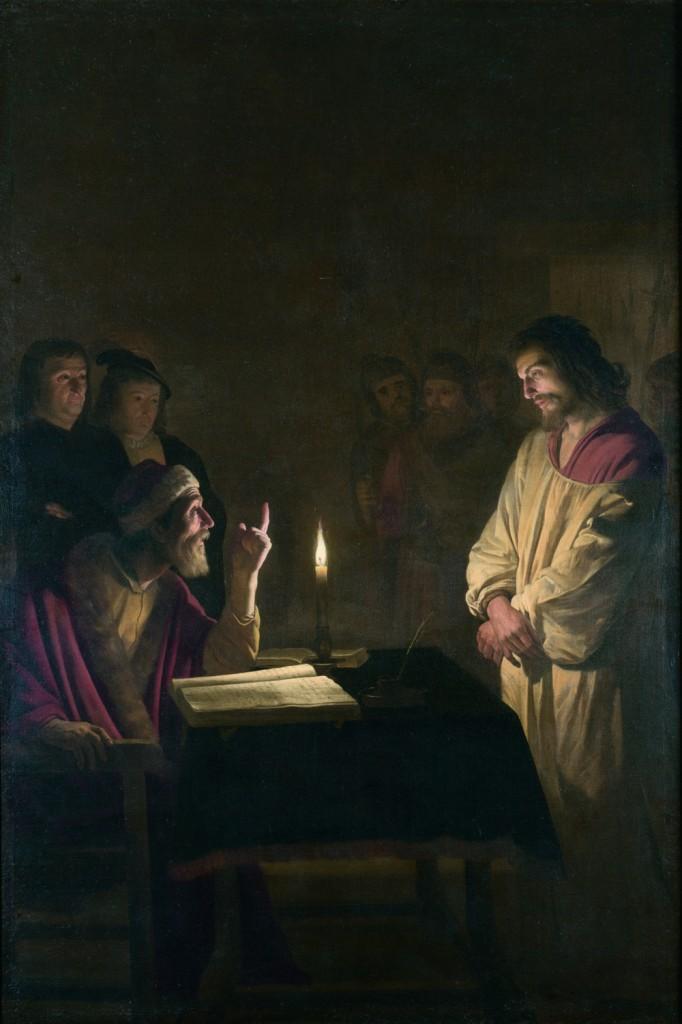 Gherardo delle notti, Cristo davanti a Caifa, National Gallery, Londra, 1615 circa