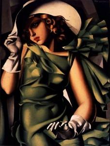 Ragazza con vestito verde, 1927